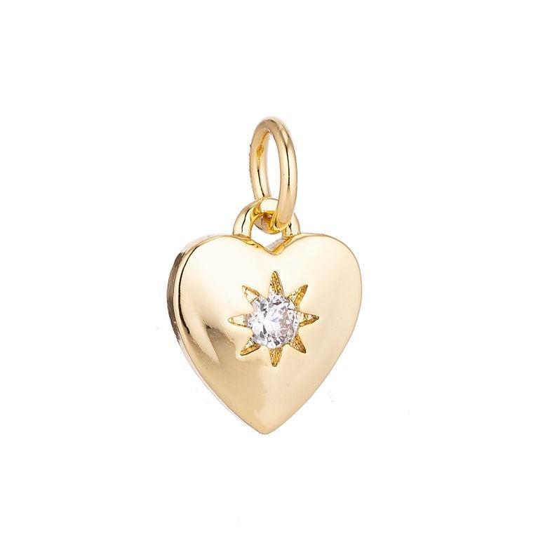 Heart Charm- Gold