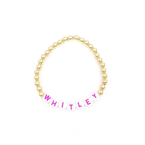 Personalized 5mm Layer Bracelet- Pink