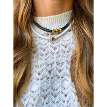 Load image into Gallery viewer, Stacked Choker Necklace | Black Batik