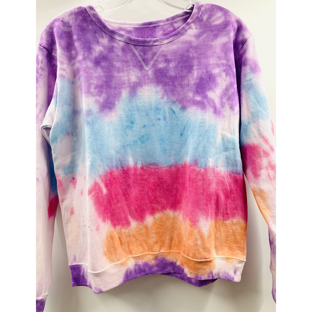 Masks By Branch x Boho Beads Tie Dye Pullover - Purple/Blue/Pink/Orange