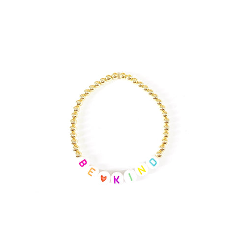 Be Kind ♡ Rainbow 4mm Layer Bracelet