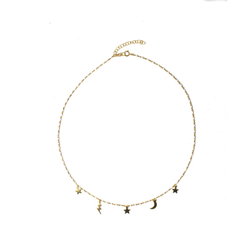 Multi Charm Necklace- White