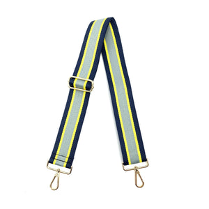 "2"" Grey/Navy/Yellow Stripe Bag Strap"