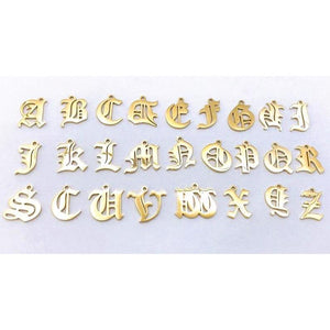 Old English Letter Charm- Uppercase