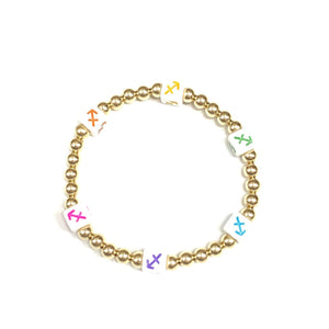 Rainbow Zodiac 5mm Layer Bracelet
