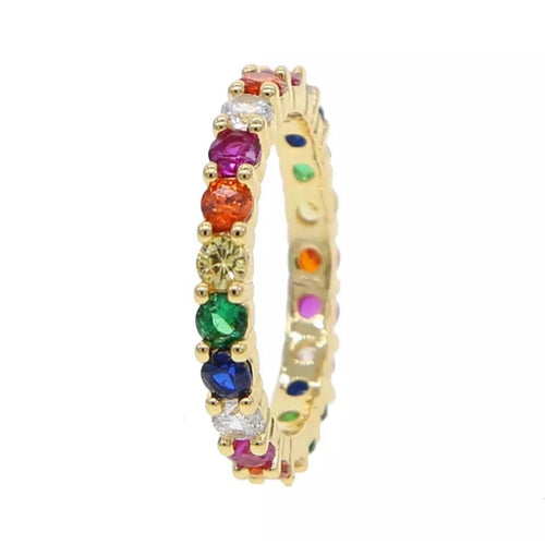 Rainbow Layer Ring- Thick