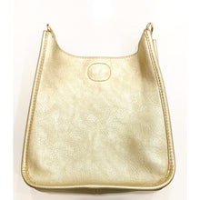 Load image into Gallery viewer, Mini Vegan Leather Messenger- Gold