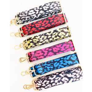 "1.5"" Leopard Bag Strap- Gold Tone Hardware"