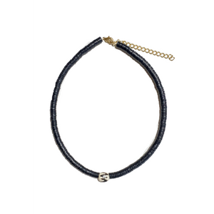 Stacked Choker Necklace | Black Batik