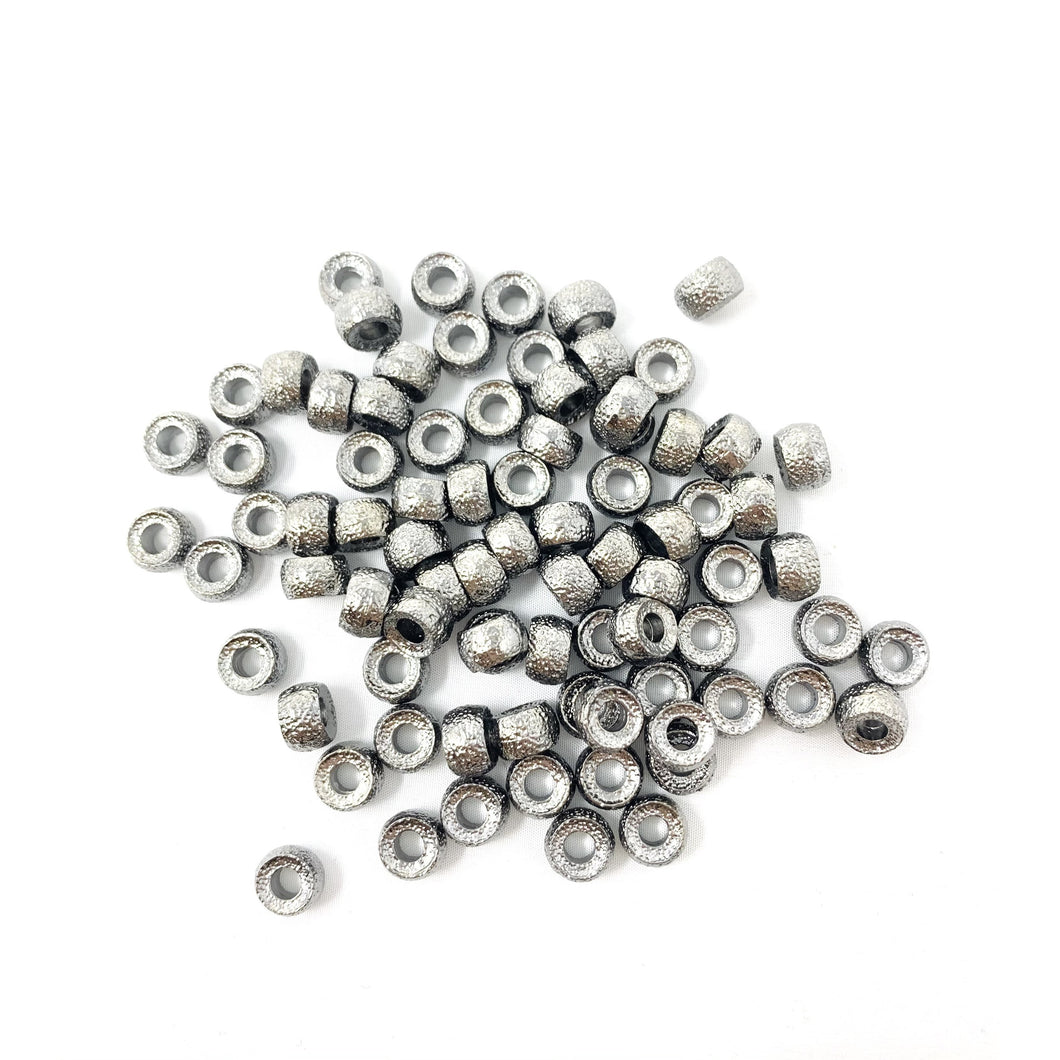 Textured Gunmetal Bead