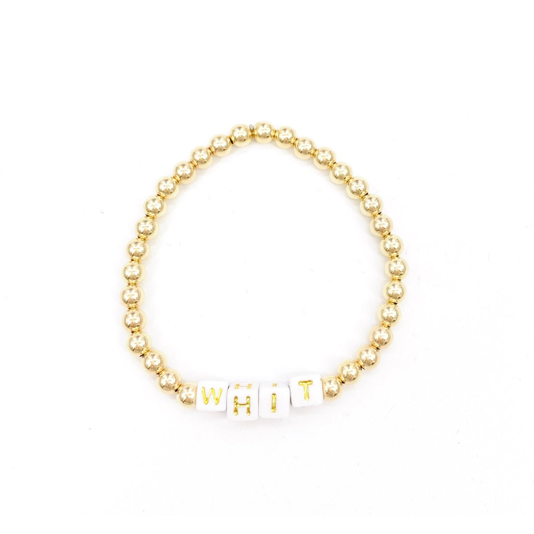 Personalized 5mm Layer Bracelet- Gold