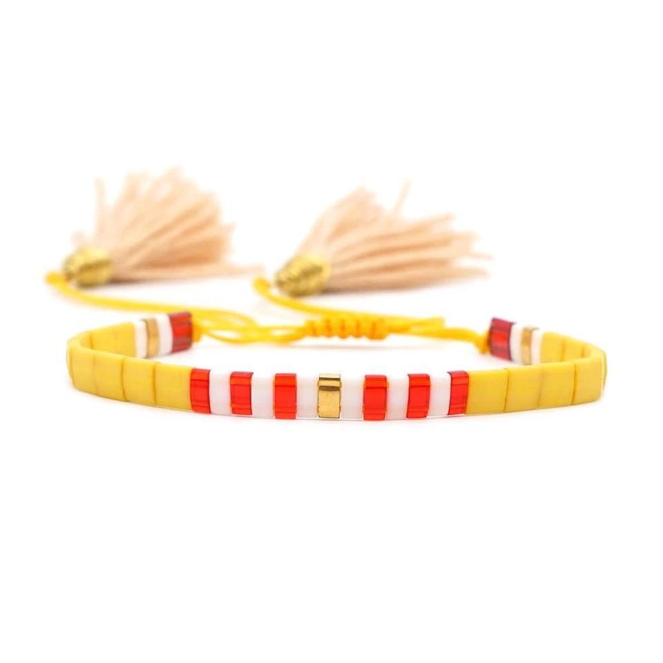 Tassel Bracelet- Yellow