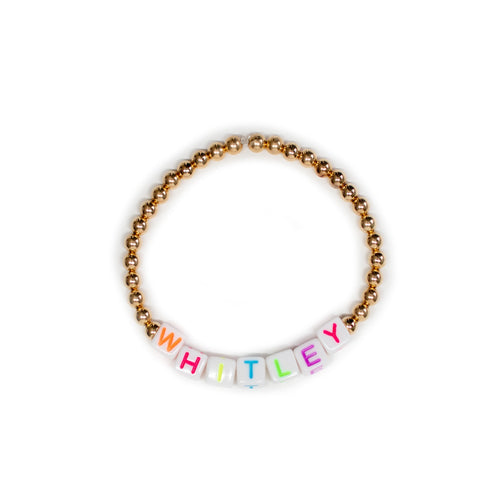 Neon Personalized 4mm Layer Bracelet