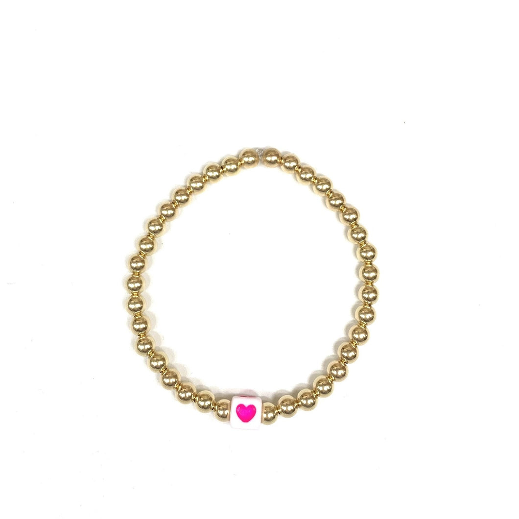 Square Heart 5mm Layer Bracelet