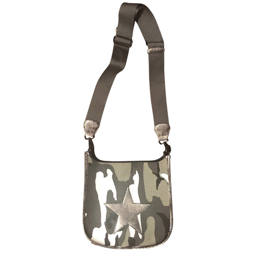 Camo Messenger Bag- Silver