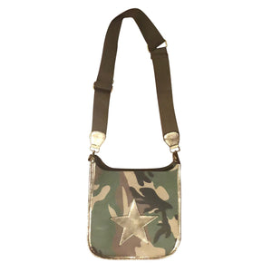 Camo Messenger Bag- Gold