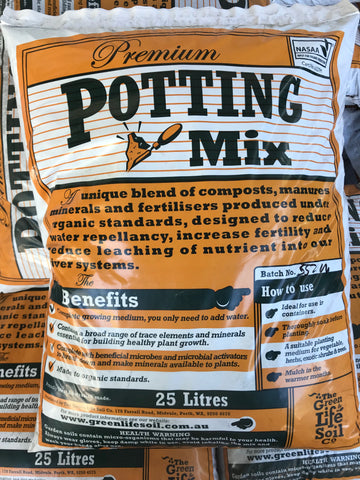 Green Life Soil Potting Mix 25L