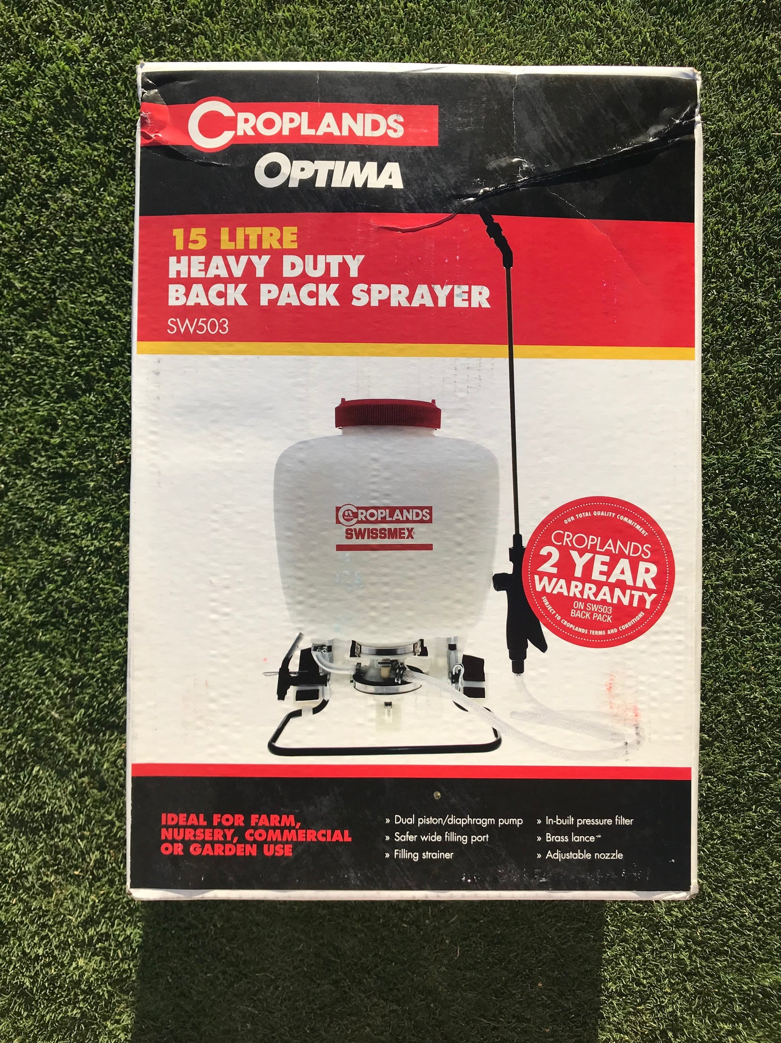 Swissmex 15L Backpack Sprayer