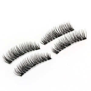 6D Magnetic Eyelashes + 3 Magnets Soft Hair Natural Tapered
