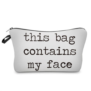 """I Like My Eyelashes"" Letter Printed Bag Organizer"