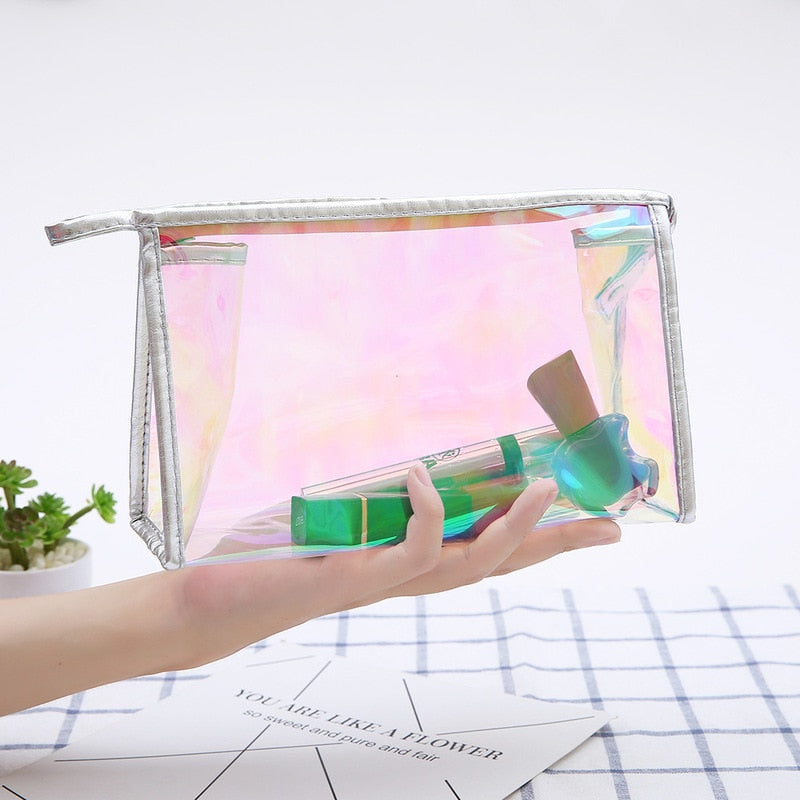 Clear Transparent Makeup Bag Zip
