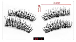 6D Magnetic Eyelashes + 3 Magnets Half Soft Hair Natural Beauty