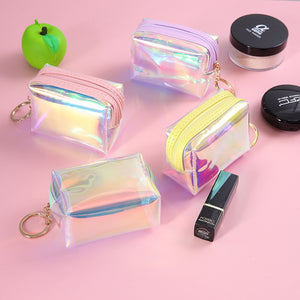 Small Cute Clear Shiny Cosmetic Organizer