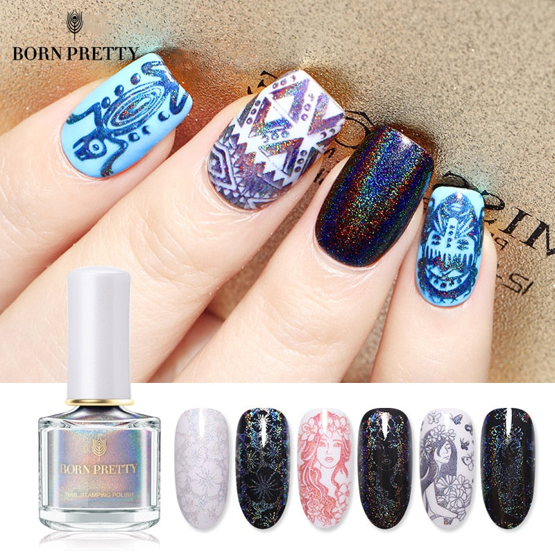 BORN PRETTY Nail Stamping Polish 6ml Silver