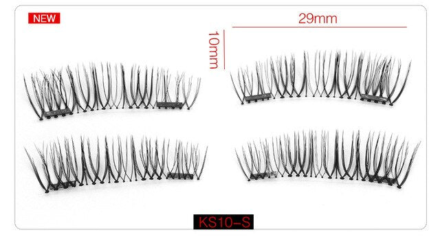 6D Magnetic Eyelashes + 2 Magnets Full Strip Natural Long / Crisscross / Tapered Lash