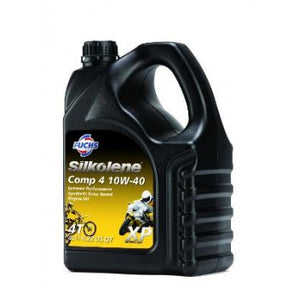 4L Silkolene 10w40 Comp 4 Synthetic Oil