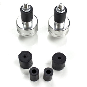 Universal Handlebar End weights (Black or Silver)