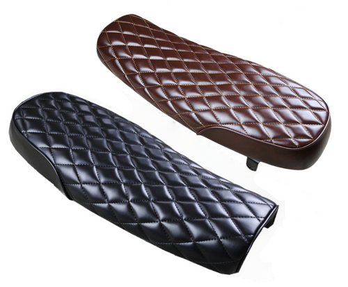 Motorcycle Classic Seat diamond stitched (various colours)
