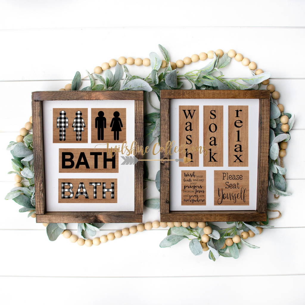 Bathroom Printable Bundle