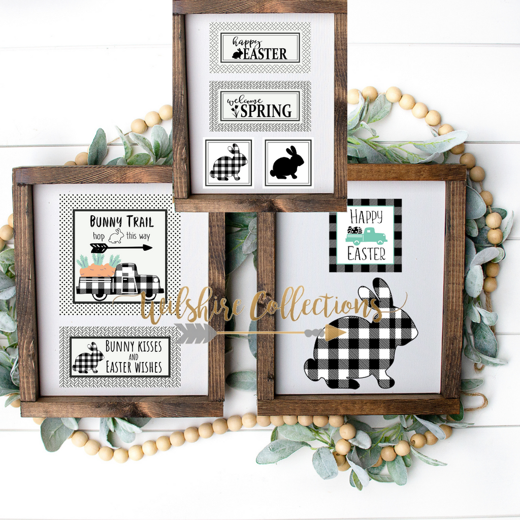 Black & White Easter Printable Bundle