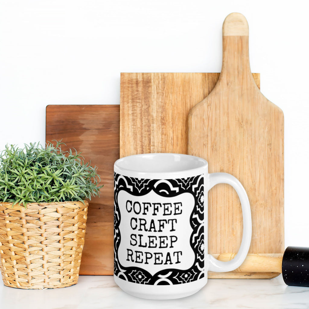 coffee craft sleep repeat mug