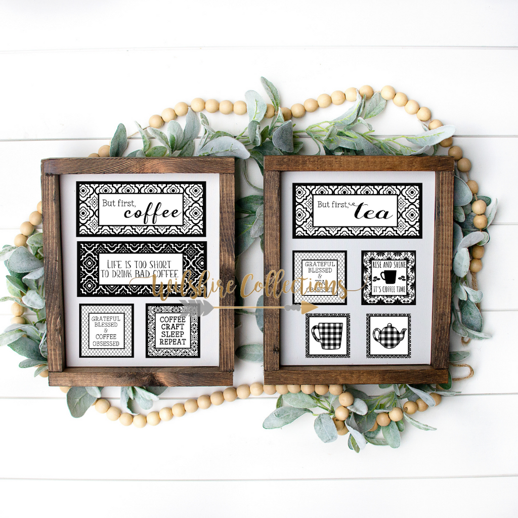 coffee and tea printable bundle