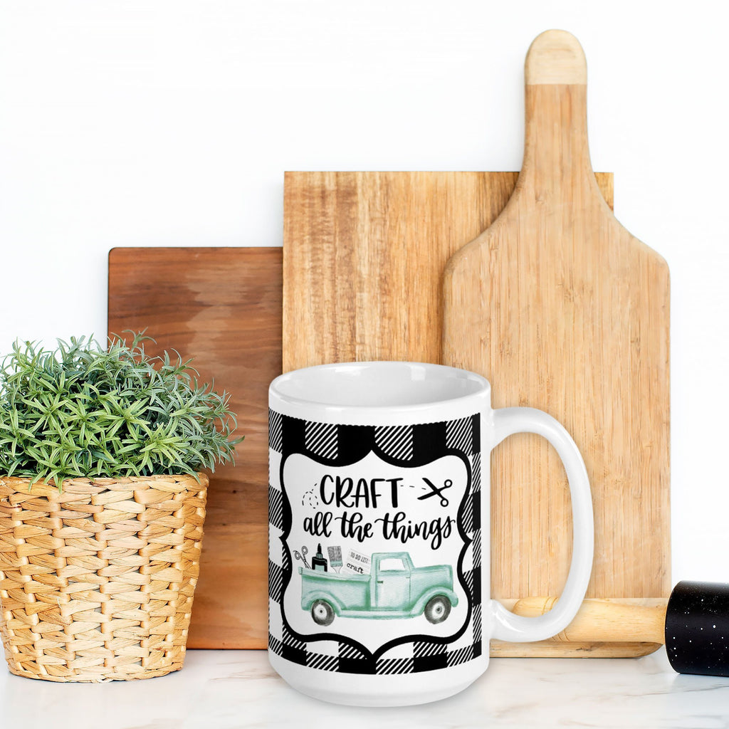 Craft All The Things Truck Mug