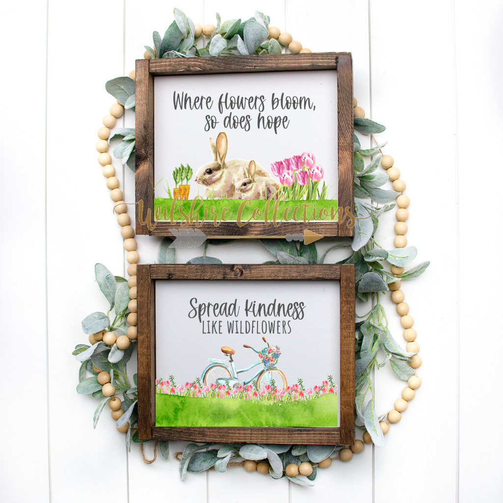 Spring Floral Bunny Printable Crafters Bundle