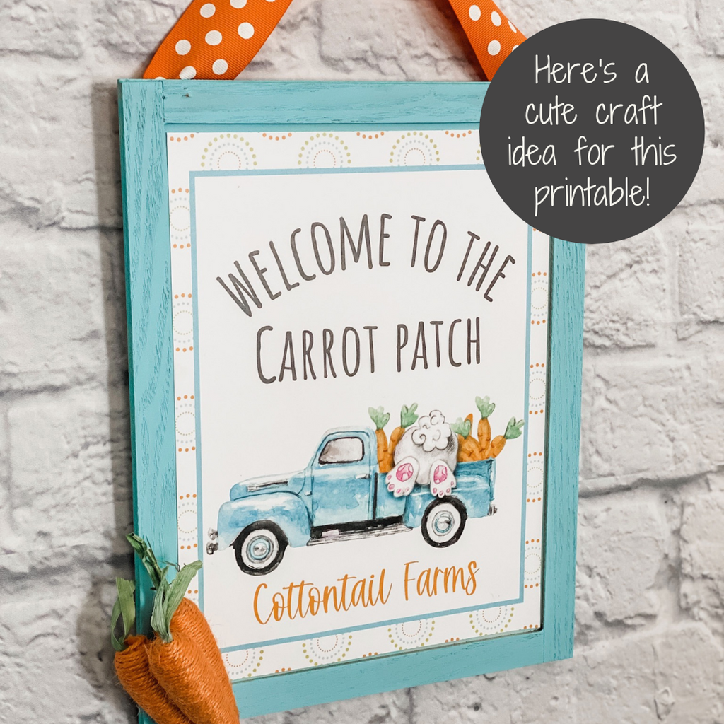 carrot patch easter printable craft