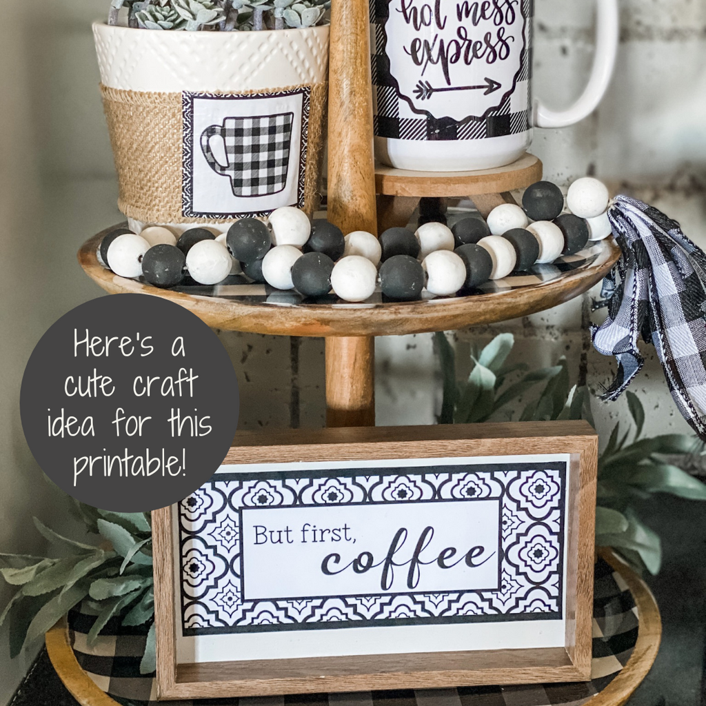 coffee and tea printable craft