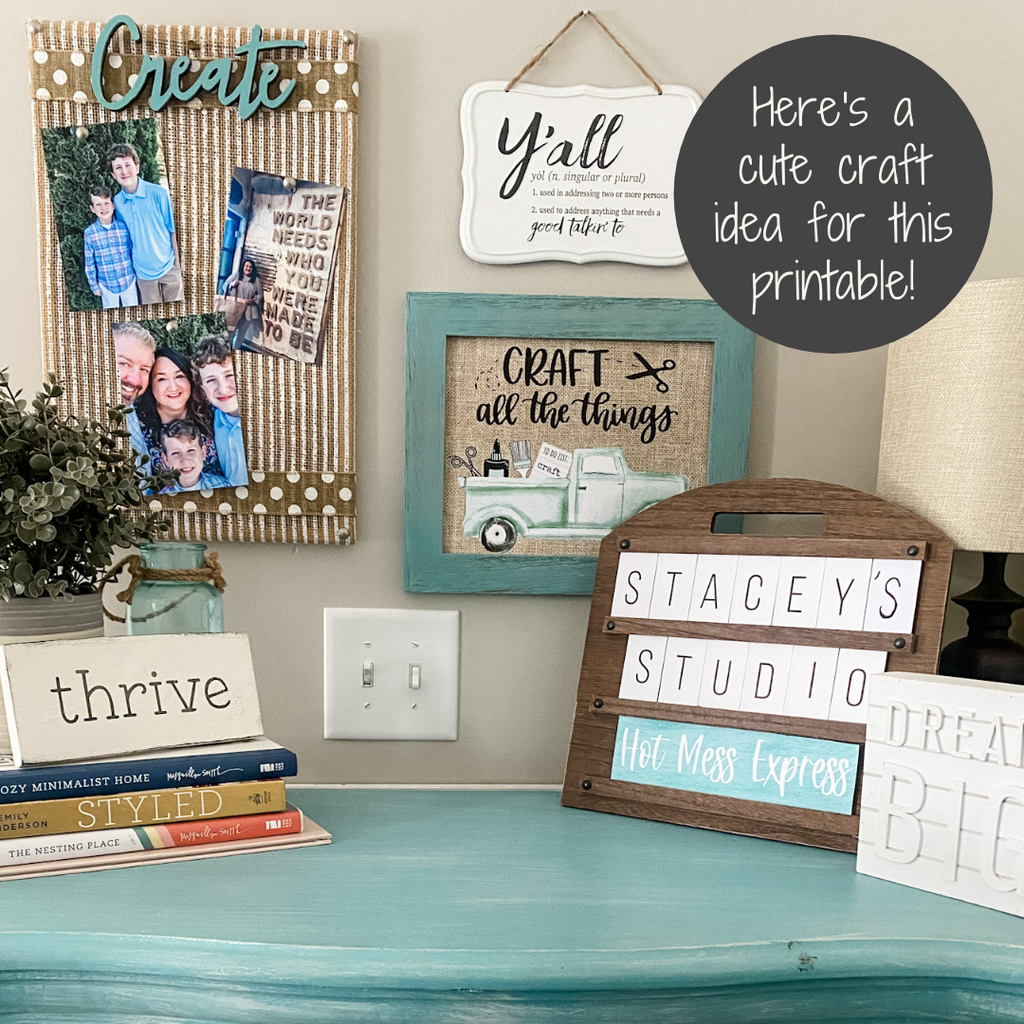 craft all the things truck printable