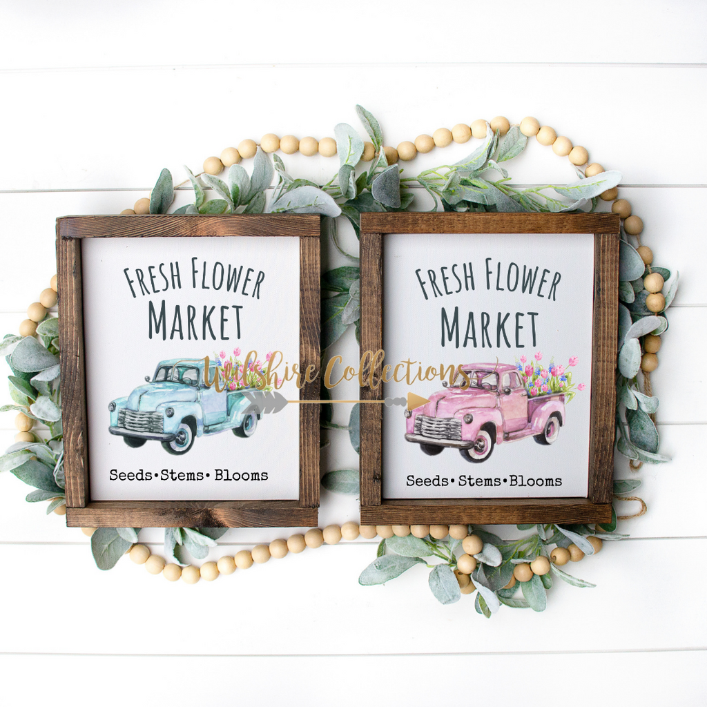 flower market truck printable bundle