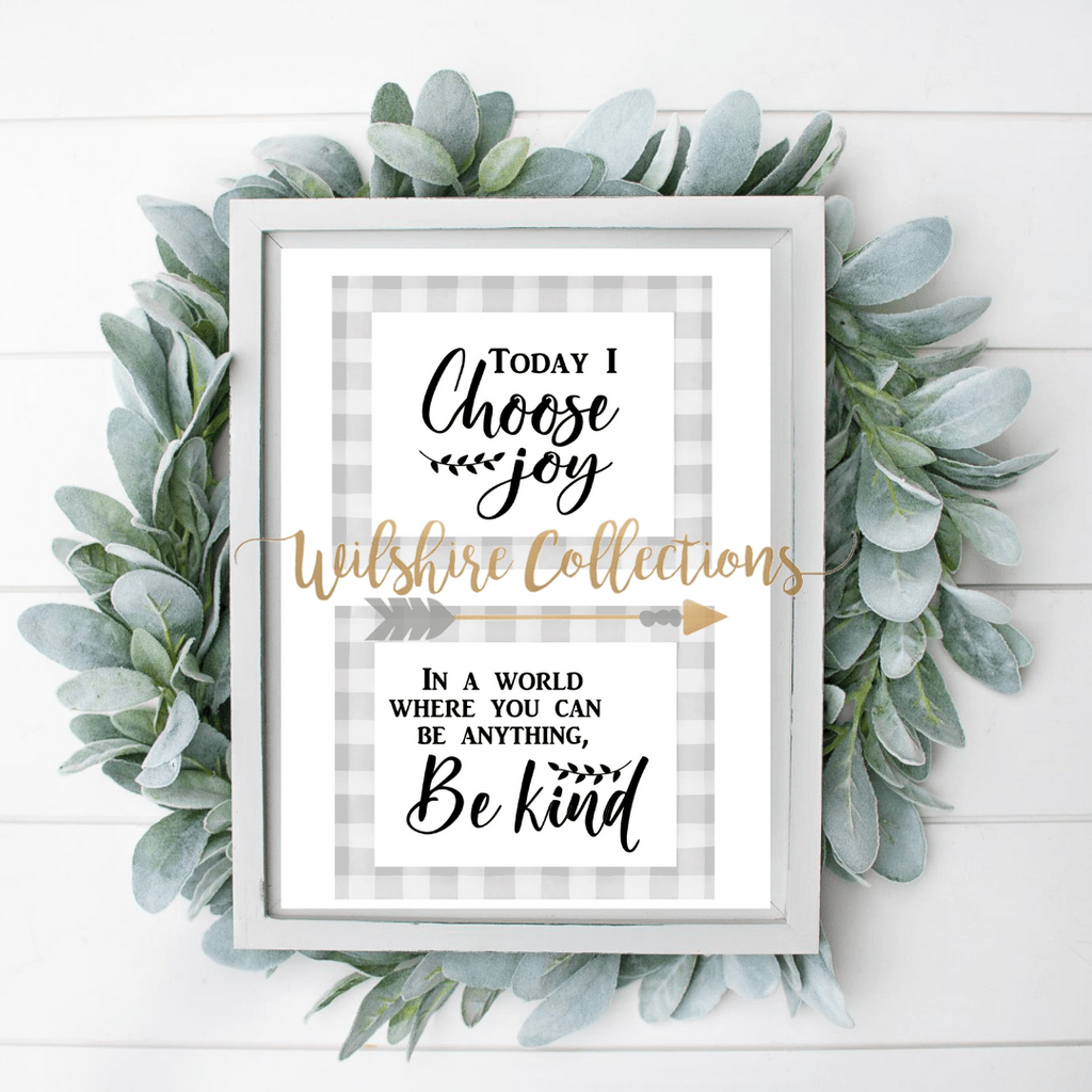 choose joy be kind printable