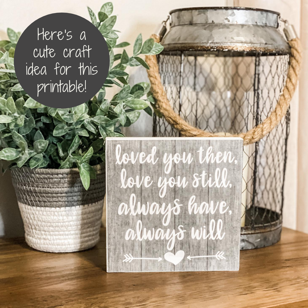 love quote printable craft