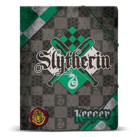 Carpeta A4Harry Potter Quidditch Slytherin gomas