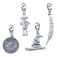 Set 4 colgantes charm Harry Potter surtido