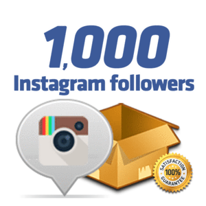 1 000 Instagram FOLLOWERS