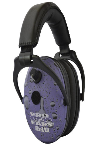 Pro Ears ReVO Electronic Ear Muffs - NRR 25 Purple Rain