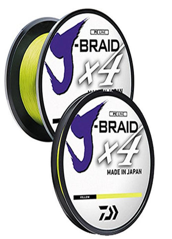 Daiwa J-Braid X4 300 Yard Spool 8LB Test - Fluorescent Yllw