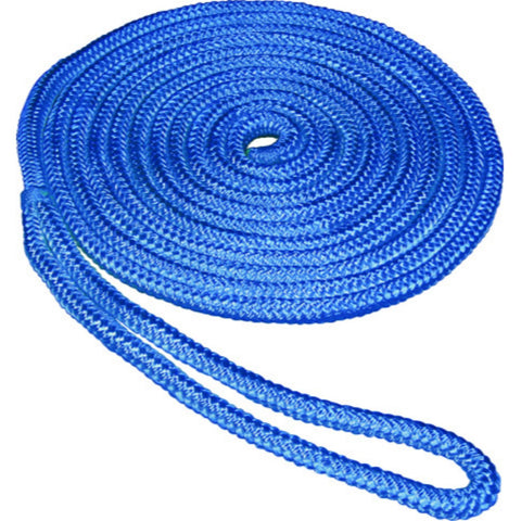 SeaSense 0.5 in x 15 ft Double Braid Dockline-Blue